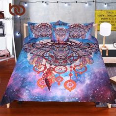 Cheap galaxy duvet cover, Buy Quality galaxy duvet directly from China duvet cover Suppliers: BeddingOutlet Owl Dream Catcher with Feathers Bedding Set Watercolor Bohemia Galaxy Duvet Cover with Pillowcases Boho Bedclothes Full Duvet Cover, Bed Duvet Covers, Duvet Cover Sets, Quilt Cover, Blanket Cover, Duvet Insert, Owl Bedding, Duvet Bedding Sets, Comforters
