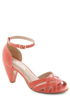 coral funky wedding shoes