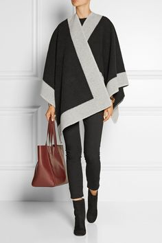 Burberry Shoes & Accessories | Wool and cashmere-blend poncho  | NET-A-PORTER.COM