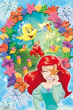 Ariel and Flounder Ariel Mermaid, Mermaid Disney, Disney Little Mermaids, Mermaids And Mermen, Ariel The Little Mermaid, Disney Fairies, Arte Disney, Disney Fan Art, Disney Love