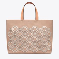 8a791c3deece84 Tory Burch Octagon Stucco Suede Leather Tote - Tradesy Suede Leather, Card  Case, Continental