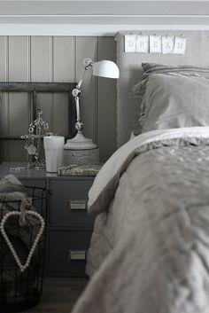 Very feminine grey bedroom