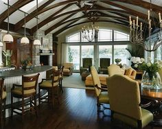vaulted greatroom images | vaulted greatroom ceiling
