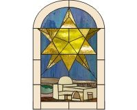 Holiday stained glass