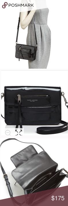 Marc Jacobs Collection Black crossbody bag nwt Black patent crossbody bag nwt Marc Jacobs Bags Crossbody Bags