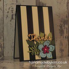 Stampin' Up! Demonstrator Kim Price - Handmade by Kim: Botanicals Thank You Card