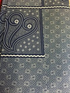 Makoti Skirt Panels Fiddleheads Indigo