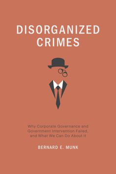 Disorganized Crimes book cover ©Palgrave Macmillan