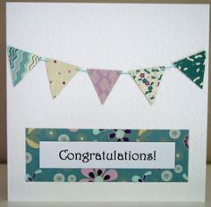 Congratulations Bunting Card
