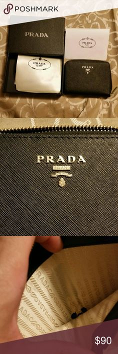 Prada leather wallet These are 1:1 high quality. The wallet also comes with dustbag and box. Prada Bags Wallets