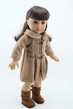 Doll Clothes Fashion Camel Woolen Coat Outfit Fit 18 inch American Girl Doll | eBay