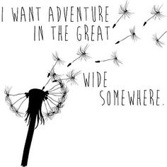 I want adventure in the great wide somewhere