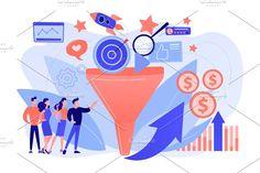 Lead Marketing, Marketing Logo, Targeted Advertising, Social Media Logos, Lead Generation, Graphic Illustration, Infographic, Vibrant, Concept