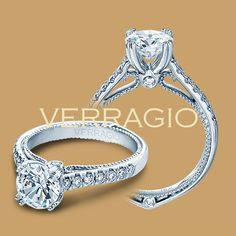 Verragio Couture-0412 Platinum Engagement Ring for about $4,700