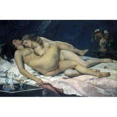 Sleep by Gustave Courbet Figures Art Print