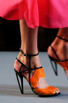 Fendi Spring 2014- OMG I wish, I love, I want - but I almost didn't pin it because of the model's frightening feet!!