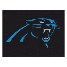 Fanmats NFL Carolina Panthers Nylon Rug  http://allstarsportsfan.com/product/fanmats-nfl-carolina-panthers-nylon-rug/  9 ounce, 100 % nylon face Recycled vinyl backing for a durable and longer-lasting product Machine made and tufted in the USA