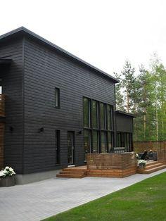 Lumiance, nro 33 Modern Exterior, Exterior Colors, Home Id, House By The Sea, Barn House Plans, Backyard, Patio, Modern Barn, Exterior Siding