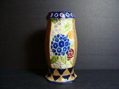 Unique Vintage Japanese Vase Retro Art Deco by NewOxfordVintage