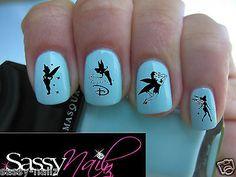 Transparent nail art TINKERBELL DISNEY Decal wrap 4 false Acrylic r real nails