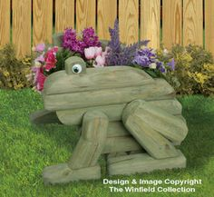 Landscape Timber Frog Planter Plans