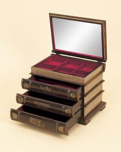 Book inspired jewelry box.