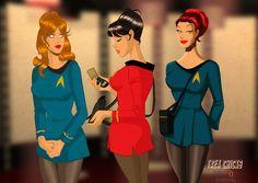 DESPOP ART & COMICS: The Ladies of Star Trek- And my muse Jordan Colton