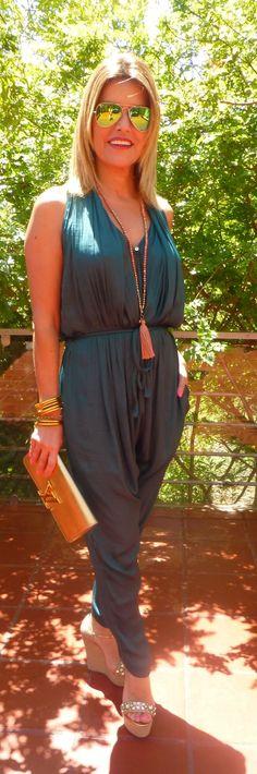 Jumpsuit Verde Zara