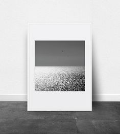 Seascape Photography Printable Art Black and by ThePrintableStudio