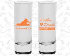 Virginia Shooters, Virginia Wedding, Personalized Shooter Glasses, Destination Shooters, State Shooters, Custom Shooters (145)