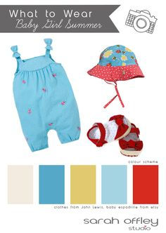 What to wear baby girl for a summer photography session Summer Photography, Summer Baby, Summer Colors, John Lewis, Color Schemes, What To Wear, Rompers, Studio, Clothes