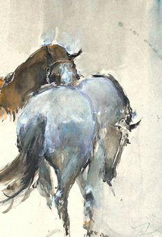 Animal Paintings, Horse Paintings, Pastel Paintings, Portrait Paintings, Abstract Portrait, Pencil Portrait, Painting Abstract, Acrylic Paintings, Abstract Landscape