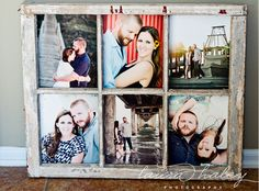 Display photos in a vintage window frame. | 27 Unique Photo Display Ideas That Will Bring Your Memories To Life