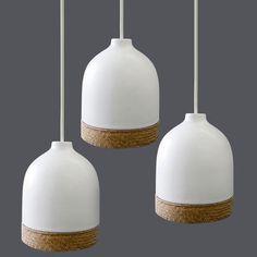 A.m Ideas: A Ceramic And Woven Lampshade. Ceramic LampsLampshadesLighting  DesignApartment IdeasInterior ...