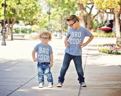 """Graphic Tee Baby Boys """"Bro Code"""" by LittleBeansCo on Etsy https://www.etsy.com/listing/239716948/graphic-tee-baby-boys-bro-code"""