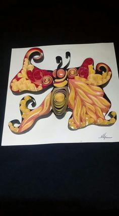 Quilling art ~ fly fire~ by Marianna Krikou
