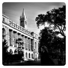 One morning on UC Berkeley's Dwinelle Plaza. #cal