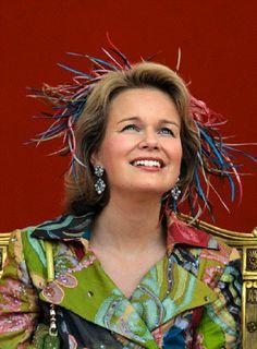 Princess Mathilde of Belgium during Belgian National Day in 2007