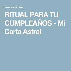 RITUAL PARA TU CUMPLEAÑOS - Mi Carta Astral