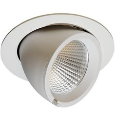 Elbow 140 downlight, 45° tilt, inklusive dimbar driver, 25W LED, 3000k, Hvit