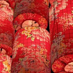 Chinese Peonies lanterns