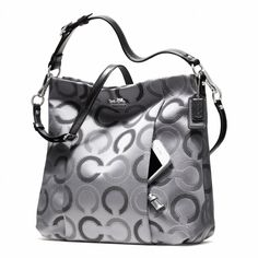Coach Madison Dotted Op Art Outline Isabelle Shoulder Bag Grey and Silver 21213 Discount Coach Bags, Coach Bags Outlet, Cheap Coach Bags, Burberry Handbags, Coach Handbags, Coach Purses, Purses And Handbags, Burberry Bags, Ladies Handbags