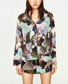 PRINTED PYJAMA-STYLE SHIRT-View All-TOPS-WOMAN | ZARA United States