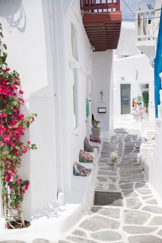 The Cobbled Streets of Mykonos, Greece