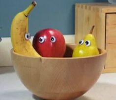 Fruits avec yeux