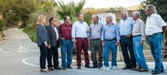 """Juan Carlos Benavides junto con los """"alcaldes pedáneos"""" de los pagos de Almuñécar y La Herradura"""