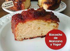 Bizcocho fácil de Manzana y Yogur   Cocinar en casa es facilisimo.com Sweet Desserts, Sweet Recipes, Delicious Desserts, Cake Recipes, Bread Cake, Pie Cake, Colombian Food, Pan Dulce, My Dessert