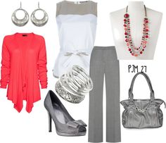 """""""Grey's Gray"""" by pjm27 ❤ liked on Polyvore"""