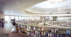 Herzog & de Meuron divulga novas imagens da Biblioteca Nacional de Israel,Cortesia de Herzog & de Meuron