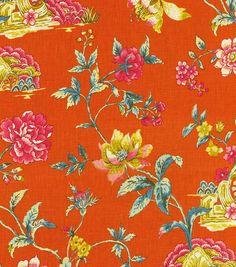Upholstery Fabric-Williamsburg Pondicherry Tumeric